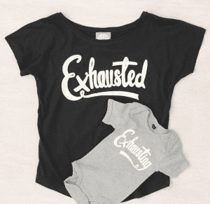 Exhausted tee notonthehighstreet