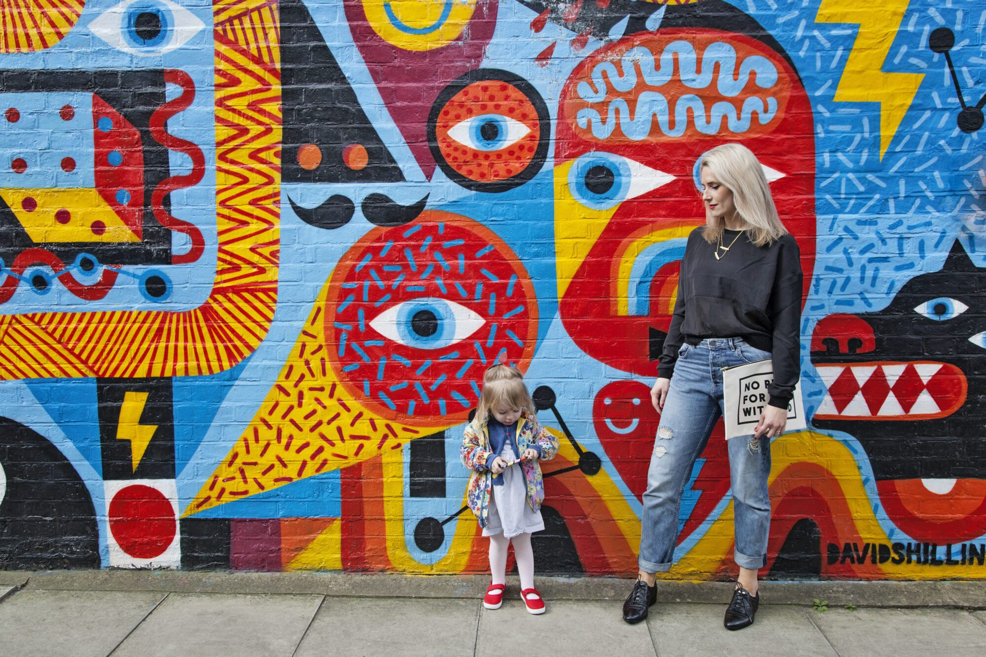 "Anna Whitehouse, aka Mother Pukka, photographed with daughter Mae ""The Urchin"" in Shoreditch."