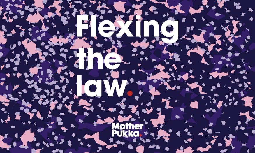 Flexing the law logo